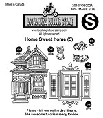 HOME SWEET HOME (5) STAMPS
