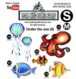 UNDER THE SEA (5) EZ mounted stamps