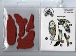 Majestic (4) static mounted red rubber stamps