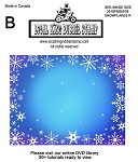Snowflakes R 1 Static mounted background stamp