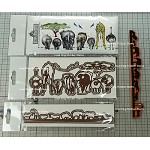 No butts about it combo set + the animal border die set combo ( 1 stamp and 4 die-cuts) + Free shipping