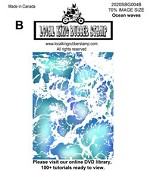 Ocean waves 1 static mounted background stamp