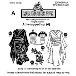 All Wrapped Up (4) EZ mounted rubber stamps