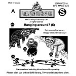 Hanging Around? (5) EZ mounted Rubber Stamps