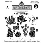 A Little Prickly  (9) EZ mounted stamps