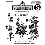 ROSE GARDEN (4) EZ MOUNTED STAMPS