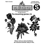 THE BLOOMING GARDEN (3) EZ MOUNTED STAMPS