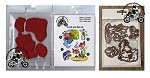 Land and sea stamps set and matching dies set combo
