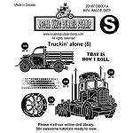 TRUCKING ALONE (5) EZ MOUNTED STAMPS