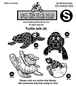 TURTLE TLAK (4) EZ MOUNTED STAMP