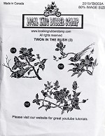 Two in the bush (3) Static mounted rubber stamp set