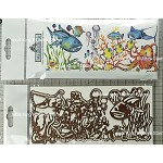 Undersea world combo set 1 stamp and 2 die cuts (Slimline card size) pre-order
