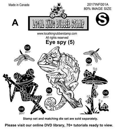 Eye Spy (5) EZ mounted rubber stamps
